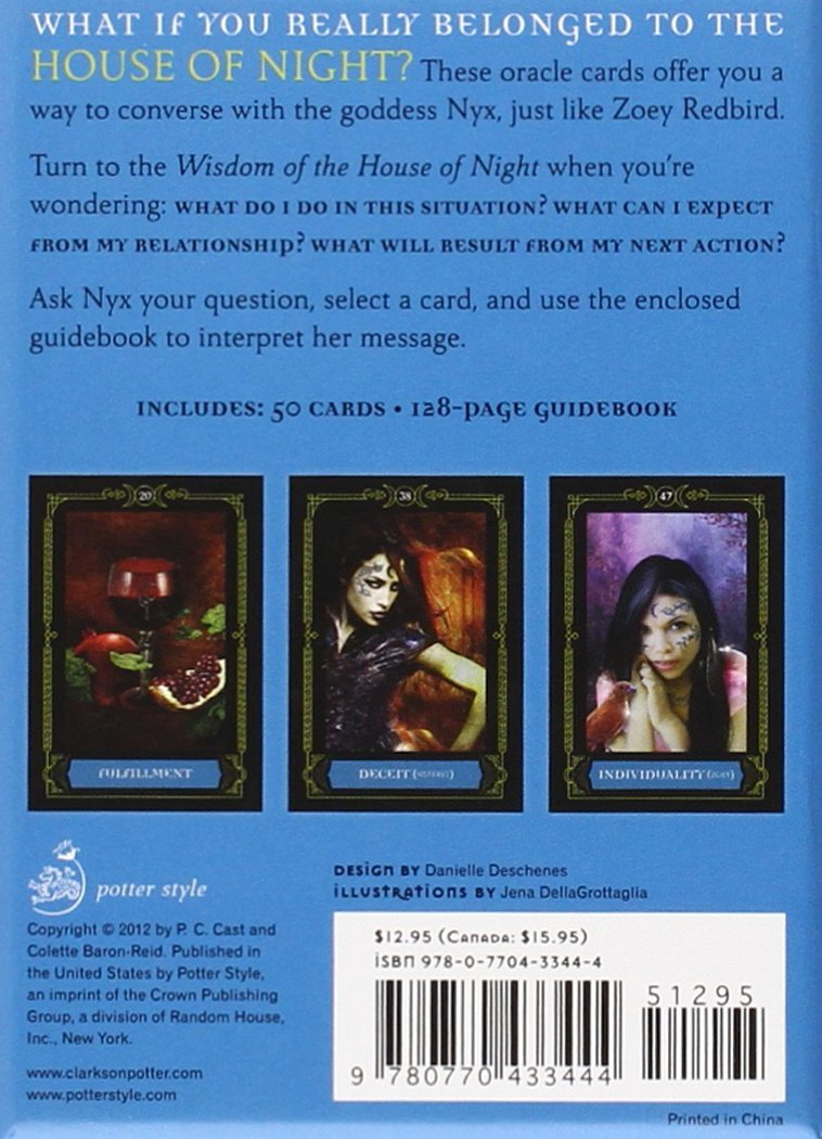 Wisdom Of The House Of Night Oracle Cards: A 50card Deck And Guidebook:  Pc Cast, Colette Baronreid: 9780770433444: Amazon: Books