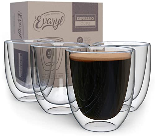 Double Wall Clear Glass Espresso Cups (Set Of 4)