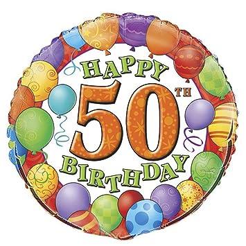 globo inflable para el diseño redondo globo de helio con forma de globo 50 cumpleaños de los cincuenta