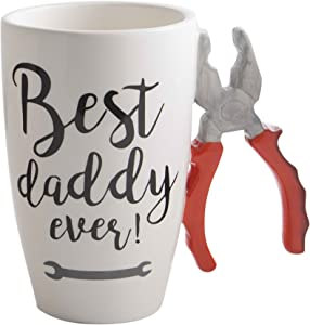 Home Essentials 19 ounce Pliers Handle Best Daddy Ever White Mug
