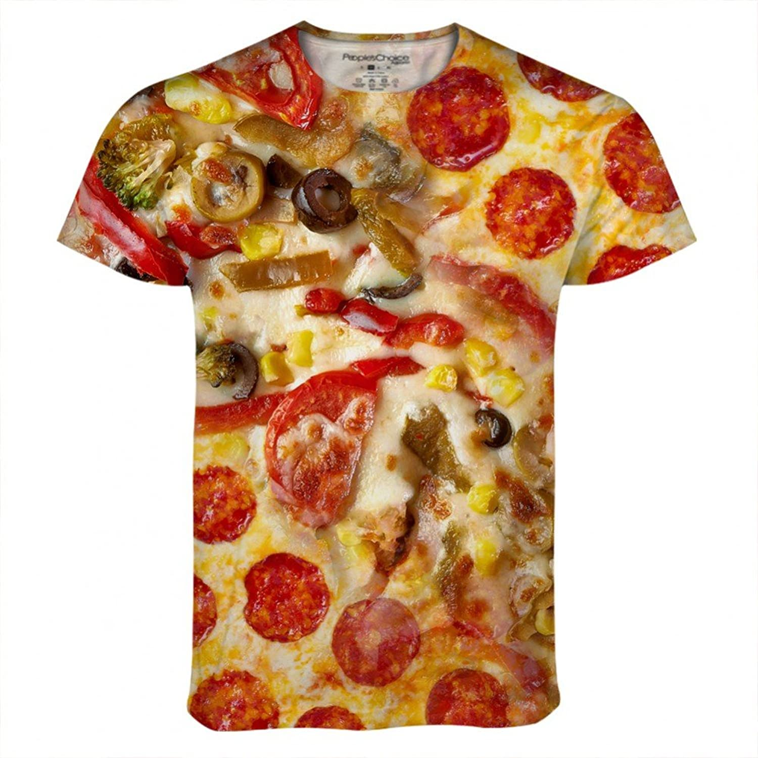 Pizza Supreme Pepperoni for Mens Tee by Peoples Choice Apparel