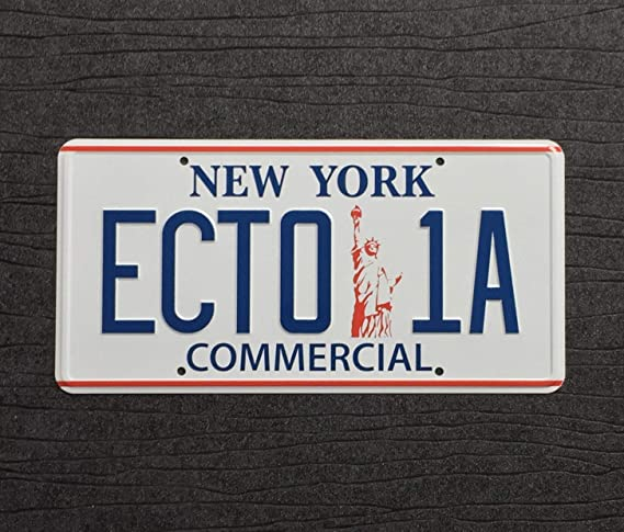 Ghostbusters Ecto 1 And Ecto 1a New York Prop License Plate 2 Pack 300mm X 150mm Küche Haushalt