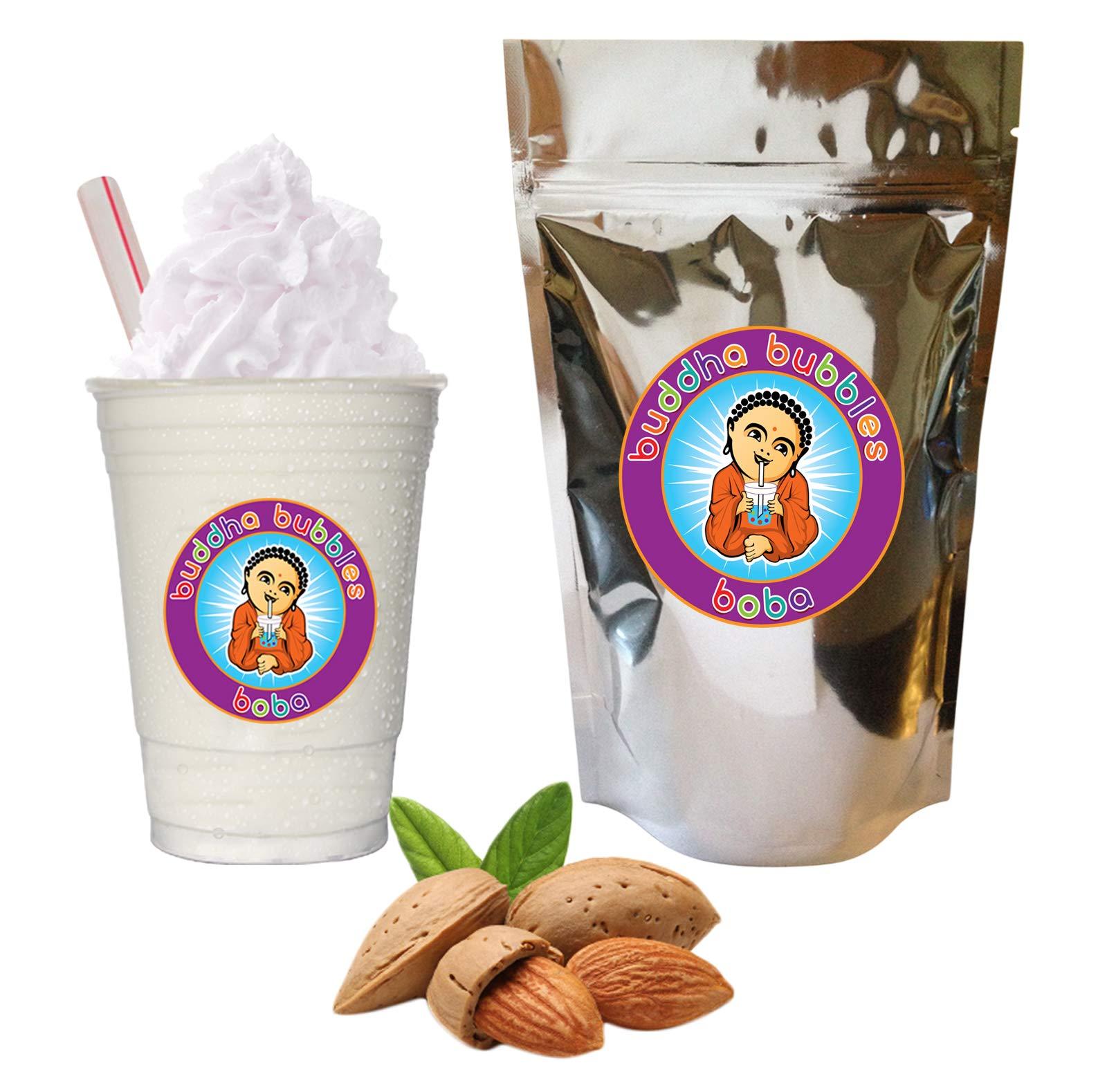 Almond Boba / Bubble Tea Drink Mix Powder By Buddha Bubbles Boba 10 Ounces (283 Grams)
