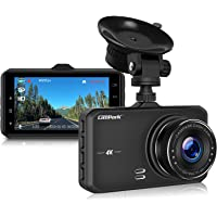 """Campark Dash Cam 4K UHD DVR Driving Recorder Camera for Car Dashboard with 3"""" LCD 170°Wide Angle G-Sensor Parking Monitor WDR Motion Detection Night Vision"""