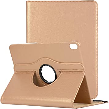 Gold Do Not Fit 1st and 2nd Generation iPadPro12.9 Support Apple Pencil Charging TiKeDa Case for iPad Pro 12.9-inch 2018 3rd Generation, 360 Rotating Smart Leather Stand Cover with Auto Sleep//Wake