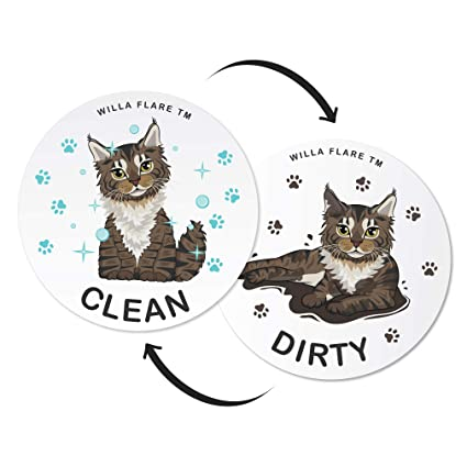 Dishwasher Magnet Clean Dirty Sign | Kitchen Label for Home Organization | Funny Clean Dirty Dishwasher