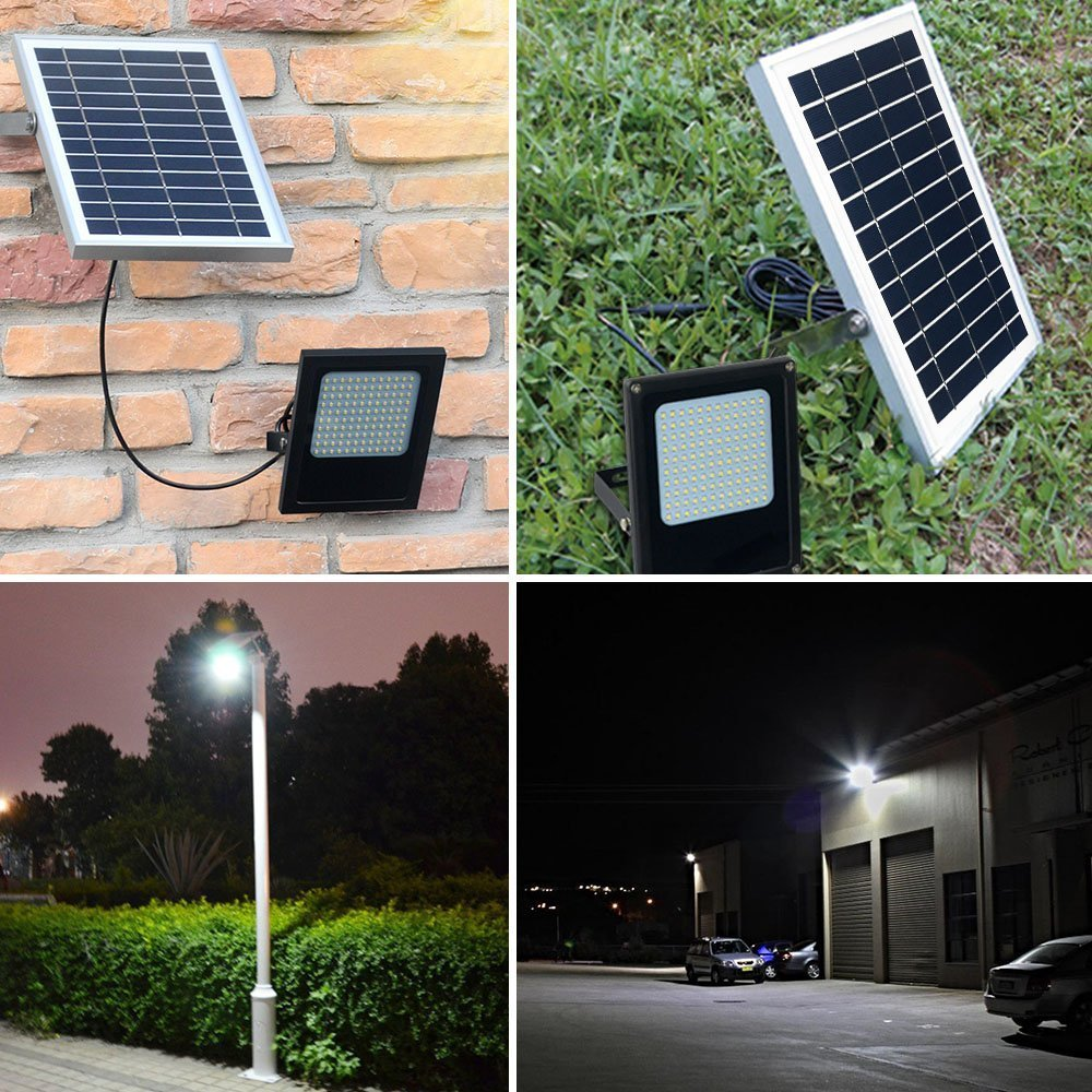 Solar Flood Light Outdoor, MYM 120 LED IP65 Waterproof Dusk to Dawn Solar Security Flood Light for Flag Pole,Sign,Garden,Farm,Shed,Camping,Boat,Garage,Auto-on/Off,5M Extended Cord Included by MyM (Image #4)
