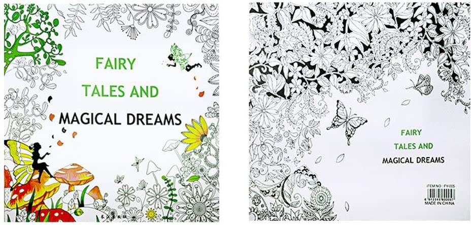 Ideal for Stress Relief Included Floral Animal Patterns 24 Pages Fun Designs Stress Relief Coloring Book Mokids Colour Therapy Colouring Books for Adult A