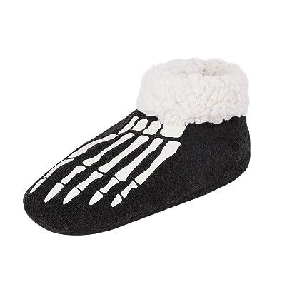 5c9a85bacdc51 IPENNY Chaussons Femme en Coton Hiver Chaussettes Bas Pantoufles  D intérieur Botte à Enfiler Polaire