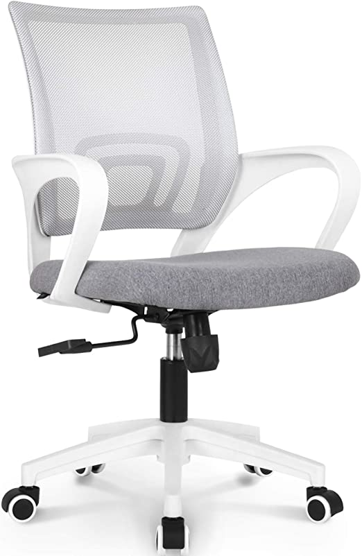 Amazon Com Neo Chair Office Chair Computer Desk Chair Gaming Ergonomic Mid Back Cushion Lumbar Support With Wheels Comfortable Blue Mesh Racing Seat Adjustable Swivel Rolling Home Executive Grey Kitchen Dining