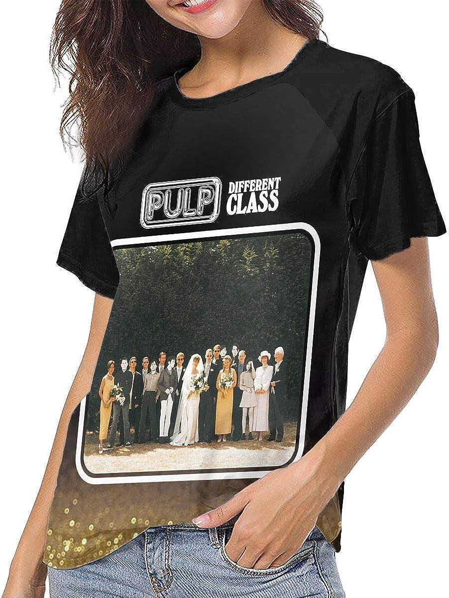 JosephG Pulp Different Class Womens Short Sleeve Raglan Baseball Tshirts Black