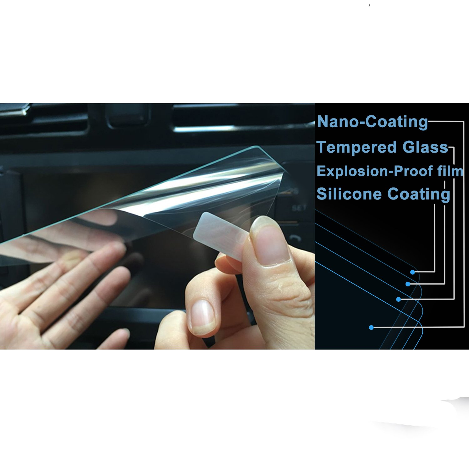 Clear Tempered Glass Infotainment Display in-Dash Center Touch Screen Protector LiFan 2016-2017 Mazda CX-3//MX-5 7-Inch LFOTPP 2016-2017 Mazda CX-3 MX-5 7-Inch MZD Connect Car Navigation Screen Protector