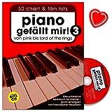 Piano gefällt mir - Band 3 - Das ultimative Spielbuch für Klavier arrangiert von Hans-Günter Heumann - mit CD und bunter herzförmiger Notenklammer