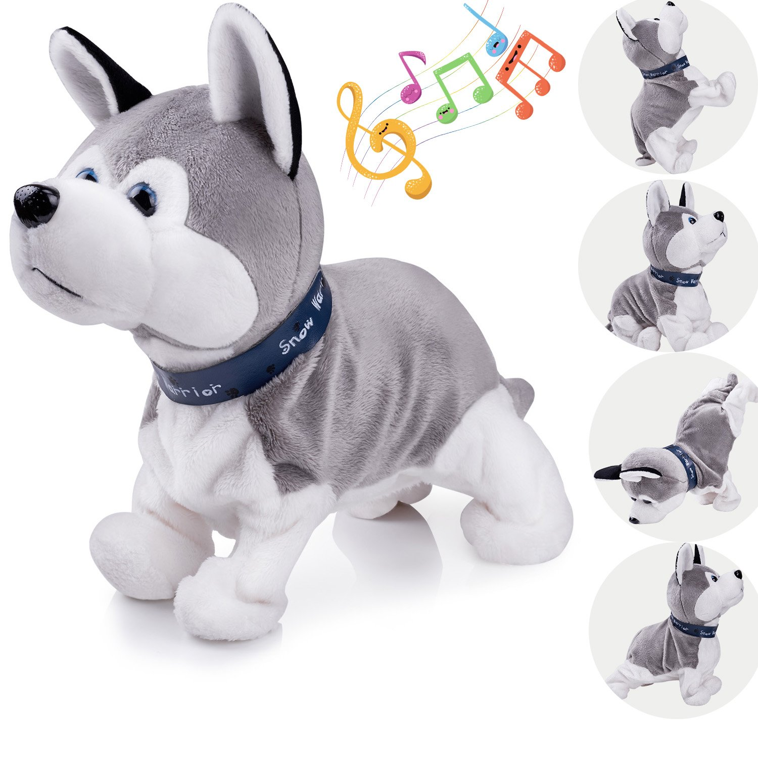 7dee897419 Interactive Puppy Plush Animated Pet Electronic Dog Cute Robot Dog Baby  Toys Touch Control Plush Husky Stuffed Animal Dog Toy Toddler kids Girl  Toys ...
