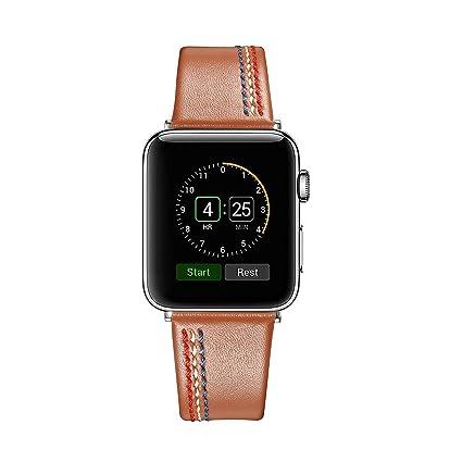 af1c86f6116 Secbolt Leather Bands Compatible Apple Watch Band 38mm 40mm Series 4 3 2 1