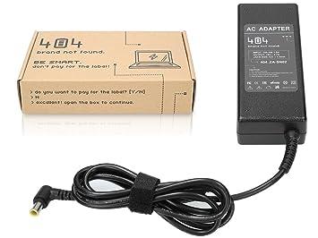 Wessper 404Brand Cargador Adaptador para Ordenador Portátil para Sony VAIO PCG-7121M sin Cable de
