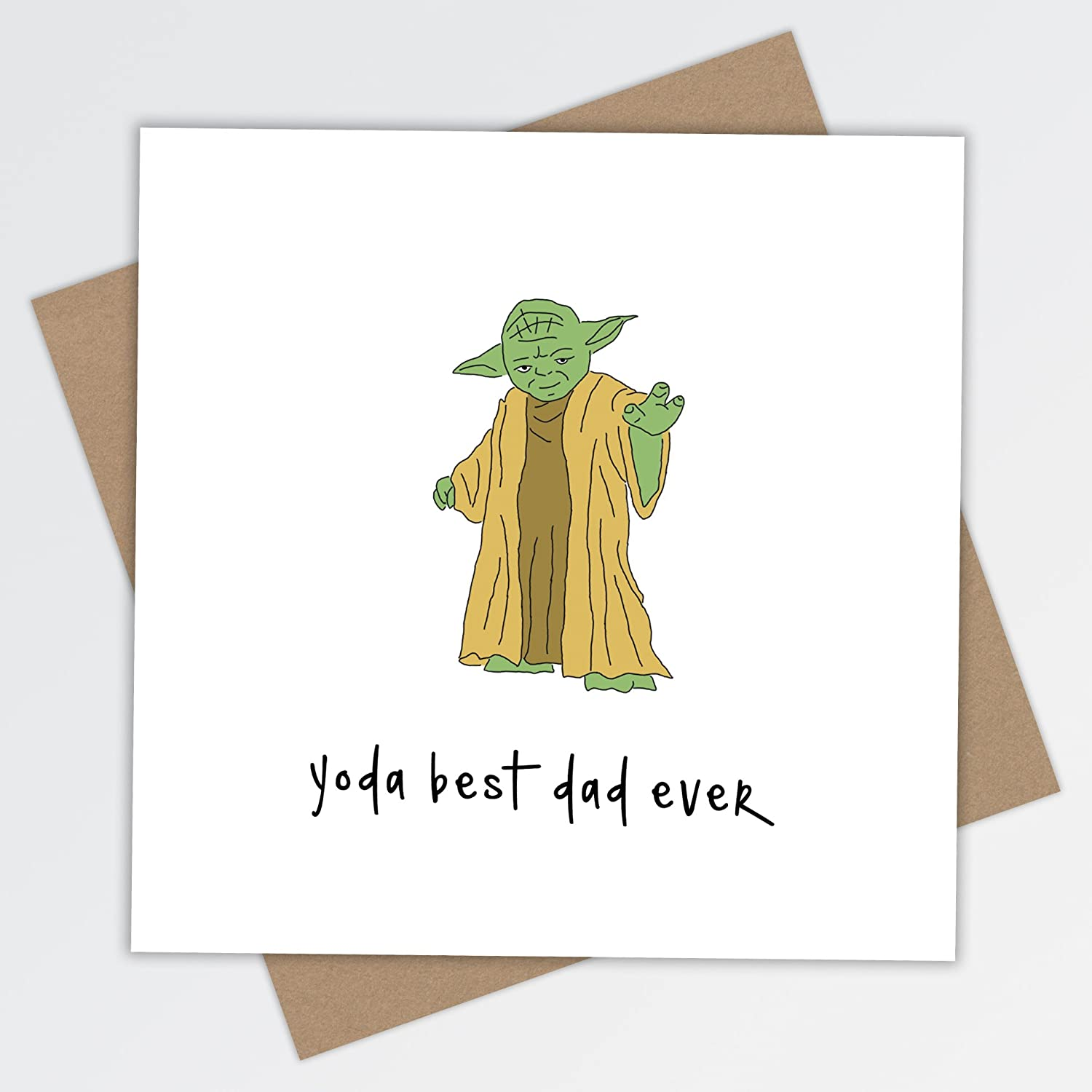 Dad yoda best birthday greeting card fathers day star wars dad yoda best birthday greeting card fathers day star wars daddy father blank funny humorous amazon office products bookmarktalkfo Images