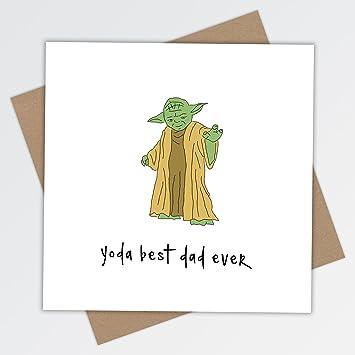 Dad Yoda Best Birthday Greeting Card Fathers Day Star Wars