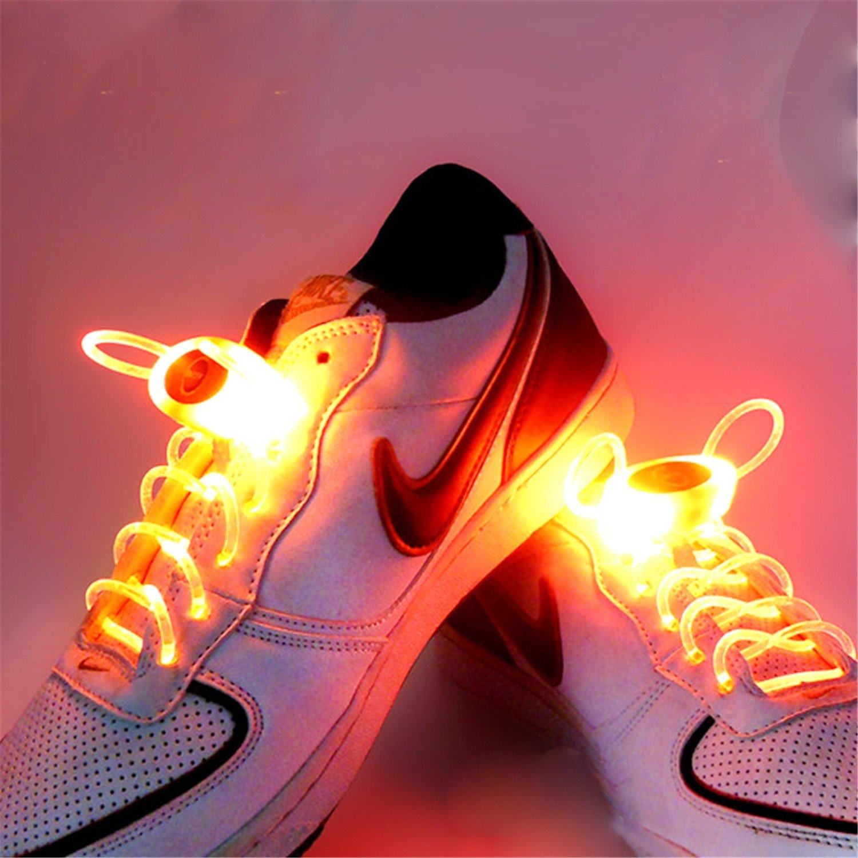 073781e69c88a1 Amazon.com  GR RGB 1 Pair 80cm Glow Shoelaces LED Sport Shoe Laces Glow  Stick Flashing Neon Luminous Laces (Color   Orange)  Home   Kitchen