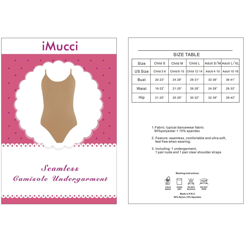 iMucci Justaucorps de Danse sans Couture V/êtements de Danse pour la Gymnastique et la Danse Classique /à lani/ères Ajustables pour Femmes et Filles