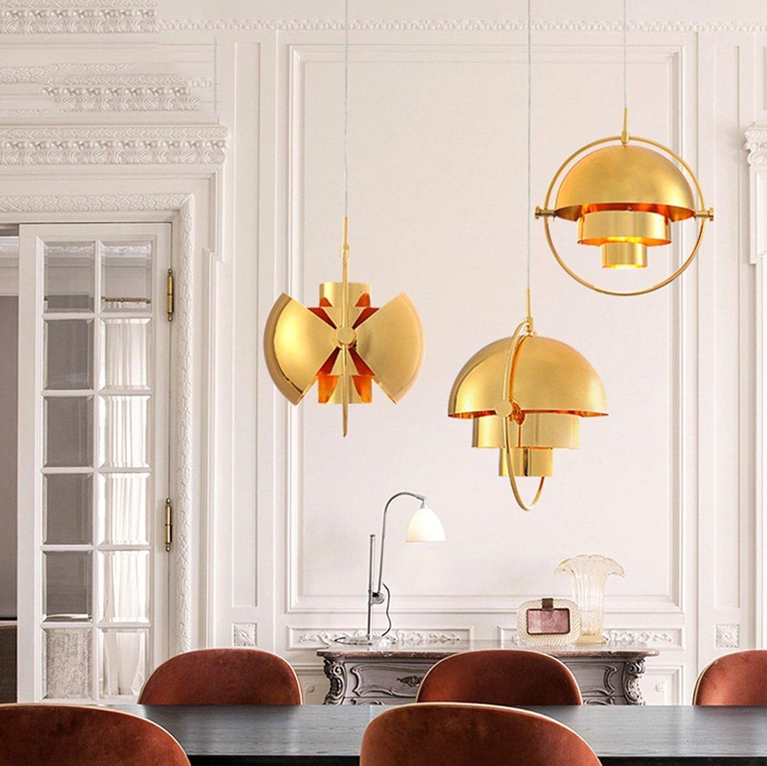 Ydxwan LED Retro-Moderne Metall Pendelleuchte Halbkreisförmige ...