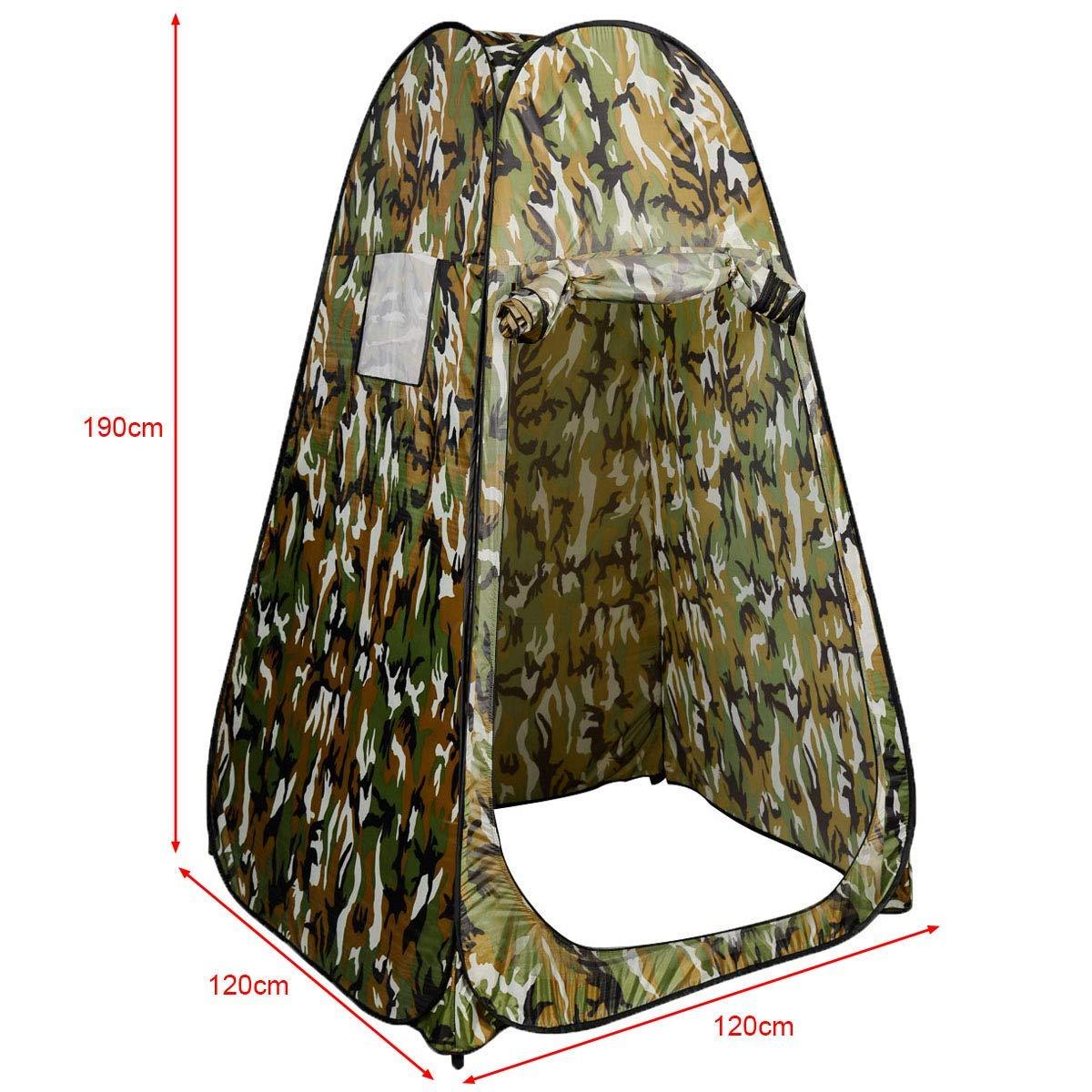 Vestiaire Pi/èce Unique 120 x 120 x 190 cm COSTWAY Tente Instantan/ée de Douche Pop Up Toilette Portable pour Camping