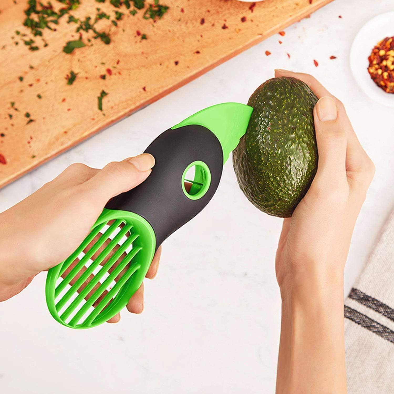 OnlyBP – Cortador Aguacate, Pelador Aguacate, Pelador de Fruta de Color Verde