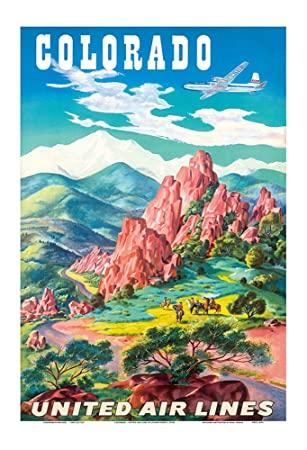 Travel Poster 13x19 inch Vintage Reproduction Colorado Fishing
