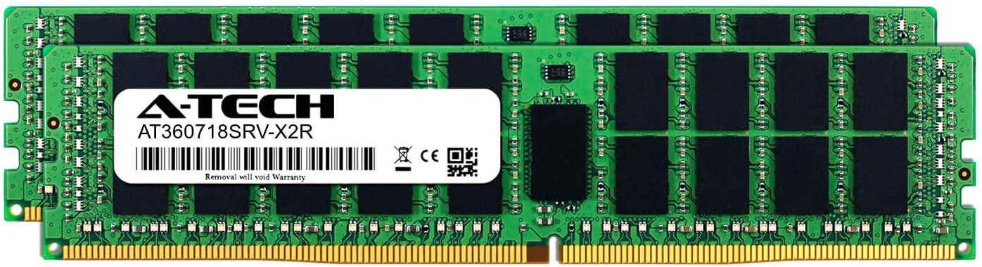 Server Memory Ram DDR4 PC4-21300 2666Mhz ECC Registered RDIMM 2rx4 A-Tech 32GB Module for Intel Xeon E5-2697AV4 AT360718SRV-X1R11