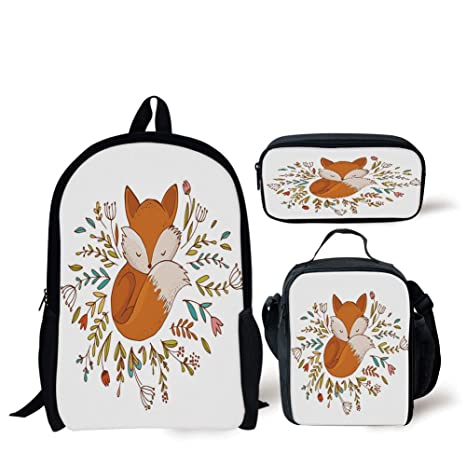 60564c085c25 Amazon.com: School Lunch Pen,Cartoon,Cute Baby Fox Sleeping in a ...