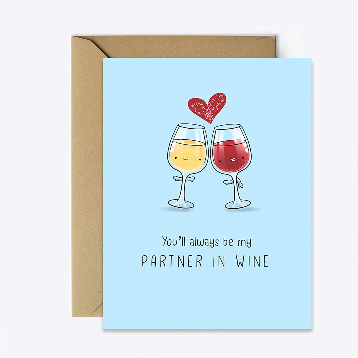 Best Friend Girls Night Funny Greeting Card for her//him Wine Anniversary Birthday Card