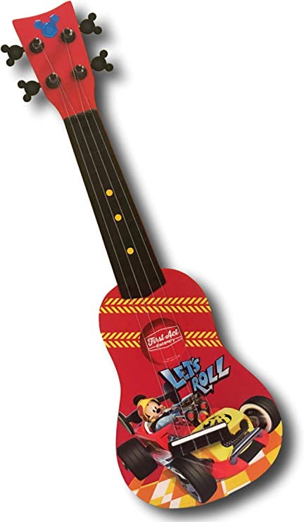 NEW DISNEY MICKEY MOUSE KIDS ACOUSTIC PLAY GUITAR AGES 3+
