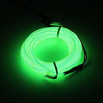 SZFC 5M(16,4ft) EL Wire Kabel Lichtschnur Band Lichtschlauch ...