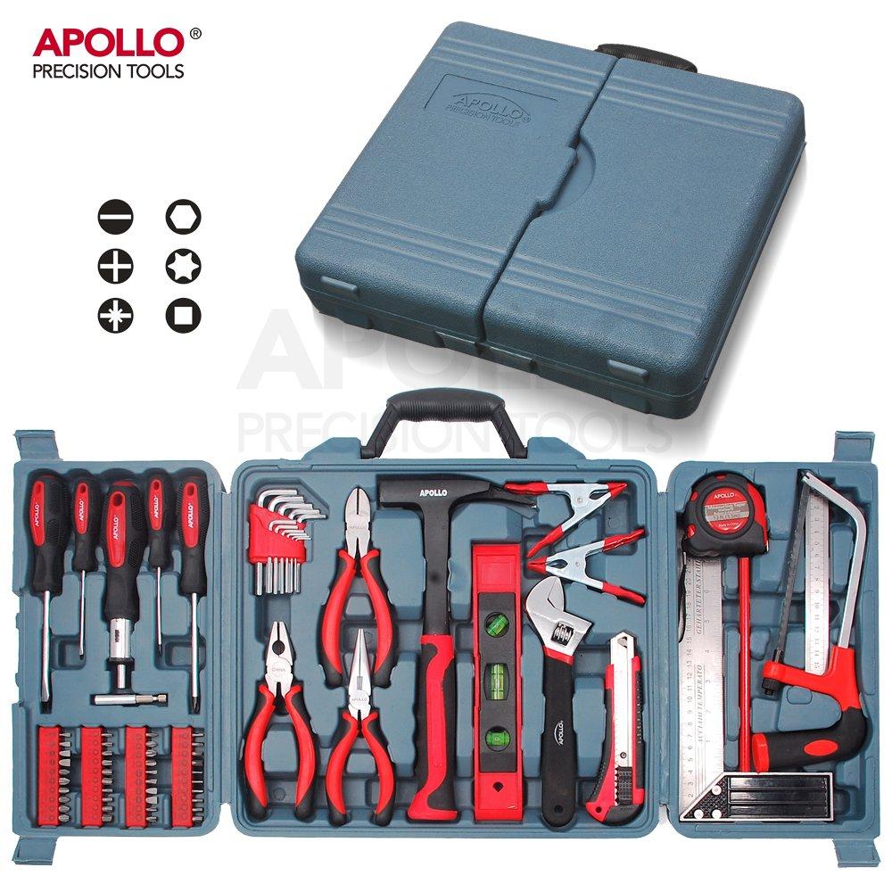 Apollo 71 Piè ces Kit d'Outils pour la maison incluant des outils manuels - dans Boî te de Rangement Apollo Precision Tools