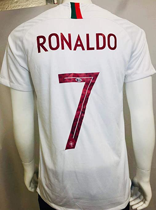 eaffdf93d Cristiano Ronaldo Autographed Jersey - White World Cup BAS Beckett -  Beckett Authentication - Autographed Soccer Jerseys at Amazon s Sports  Collectibles ...
