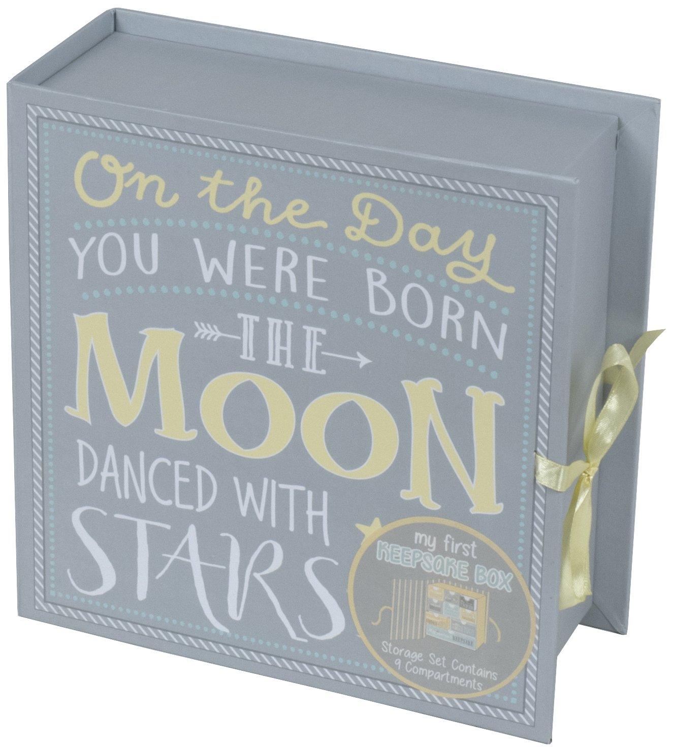 Baby Milestone Keepsake Storage Box: Track Treasured Memories Tri-Coastal Design K37430-65068