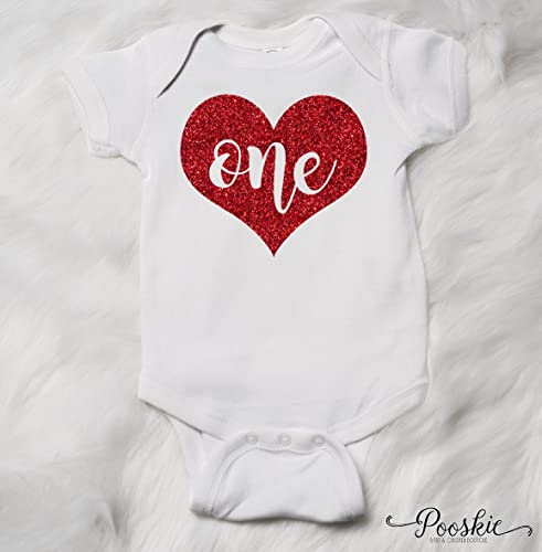 Valentine First Birthday Red Heart Bodysuit 1st Shirt Its My Outfit
