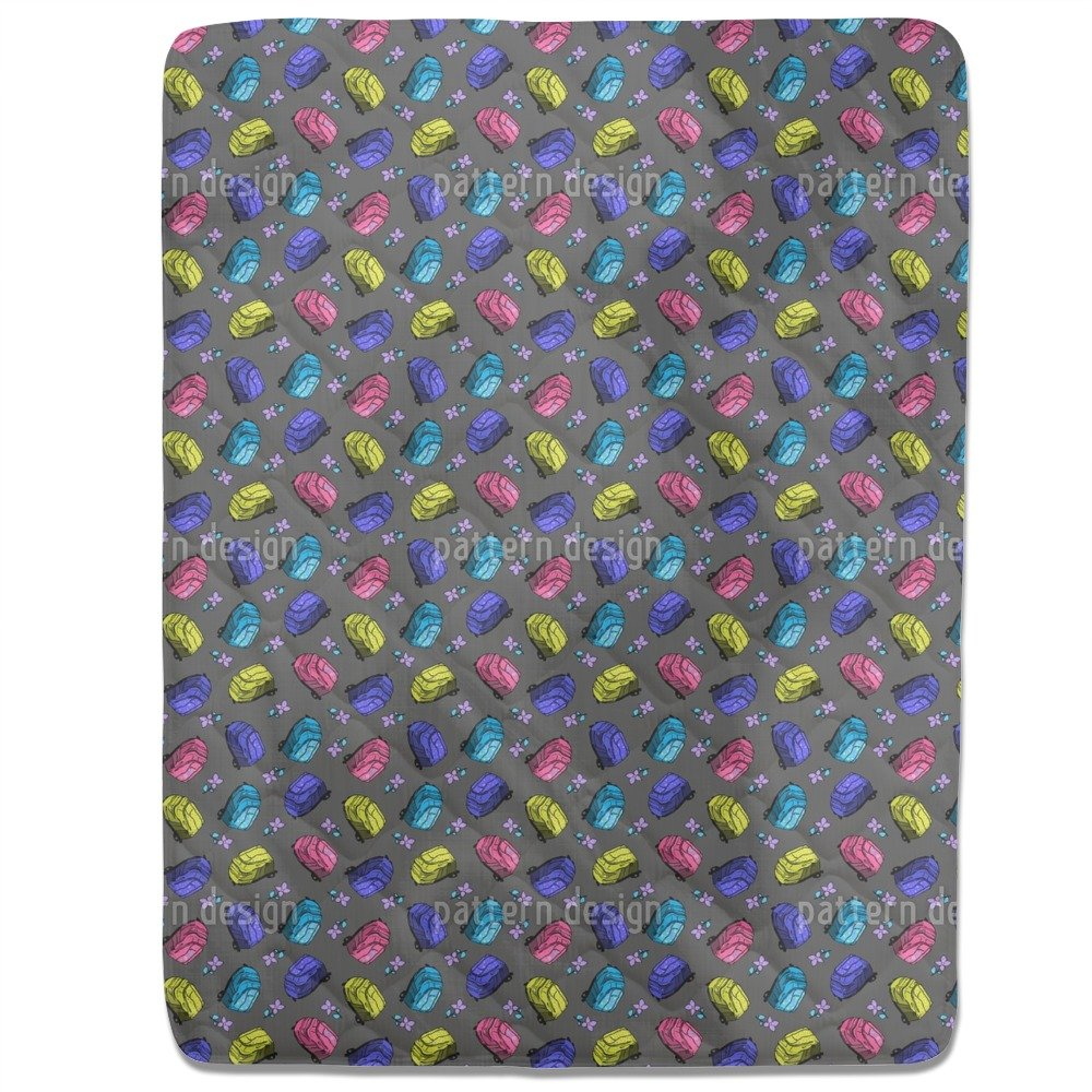 Beautiful School Bags Fitted Sheet: Queen Luxury Microfiber, Soft, Breathable