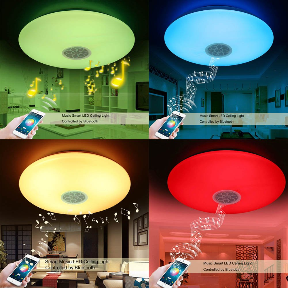 Ceiling Lamp with Bluetooth Speaker Smart APP Control Music LED ...