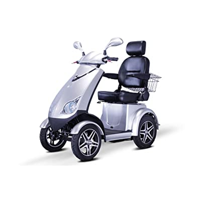 4-Wheel Scooter with Electromagnetic Brakes in Red: Health & Personal Care