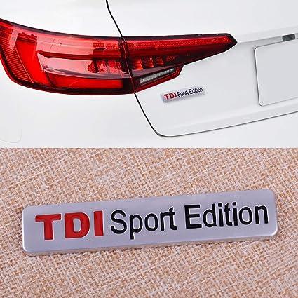 CALAP-STORE - Auto Car chrome TDI SPORT Edition Auto Car Emblem Badge Decal Sticker Metal 3D Turbo Direct Injection car styling - - Amazon.com