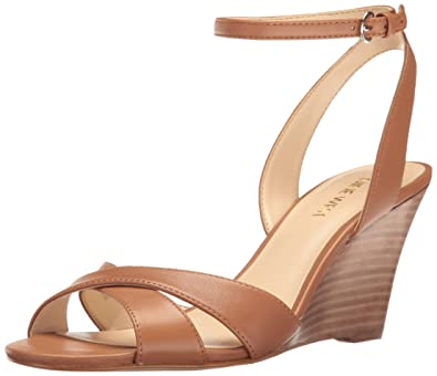 Nine West Kami Leather Wedge Sandal z0ZHl