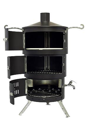 Pizza horno portátil, al aire libre, barbacoa, fumador, hoguera con interior eléctrica