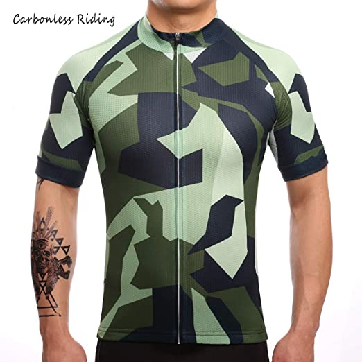 52cee8c4e Carbonless Riding Men s Cycling Jersey Camouflage Short Sleeve Summer  Bicycle Clothing Quick Dry MTB Jersey Cycling