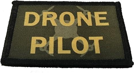 Parche táctico militar para piloto Drone Morale 2 x 3 ganchos de velcro fabricado en los Estados Unidos perfecto para su mochila, bolsa de paquete, equipo Molle, sombrero de operador o gorra.: