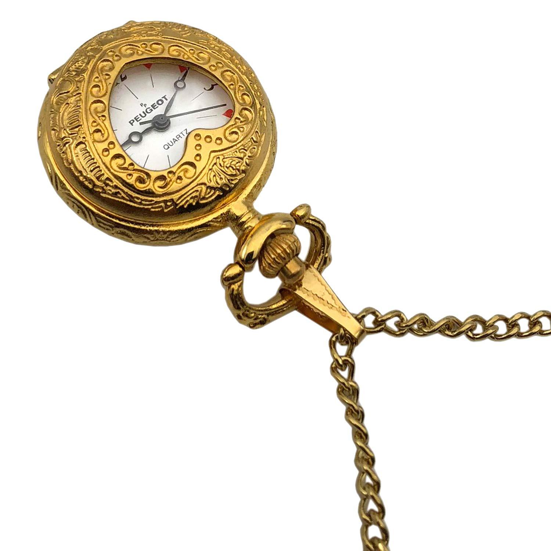 Peugeot Women's Musical Pendant Necklace Watch, Valentine Heart Shape Locket