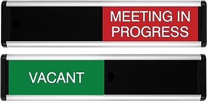 Viro vacante/Reunión en curso símbolo de puerta corredera (verde ...