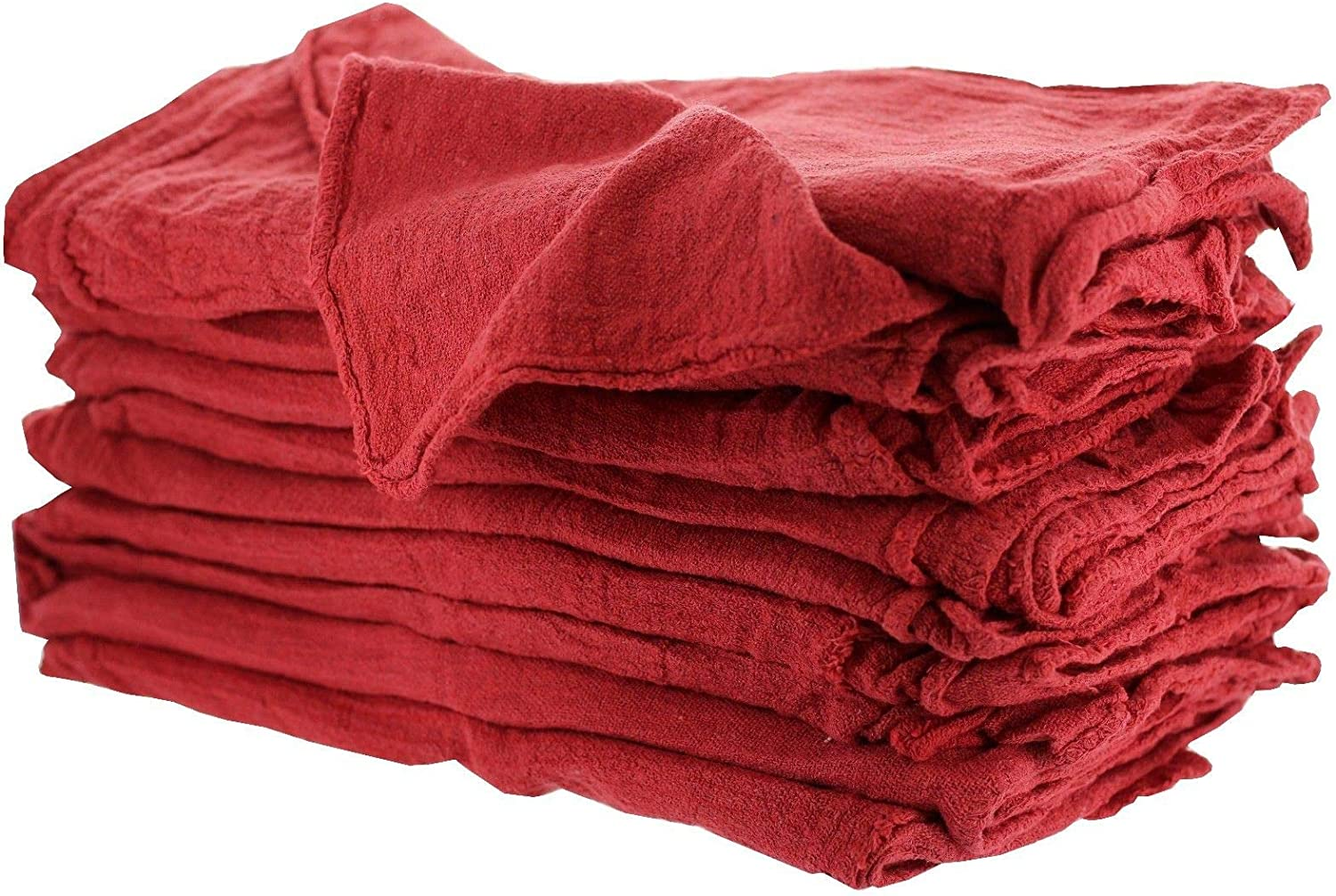 1000 Pieces A Grade Red Shop Towels by MIMAATEX-14 x 14 Inches New 100/% Cotton-Box of 1000 Pieces