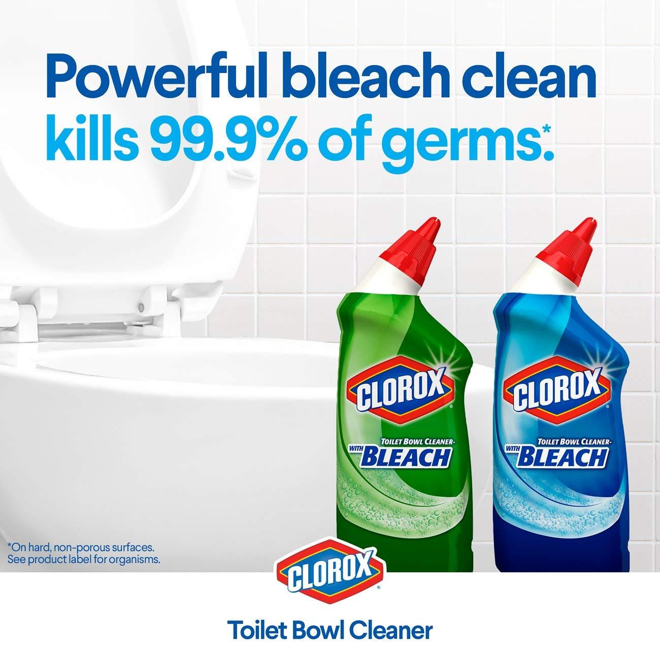Amazon.com: Clorox Toilet Bowl Cleaner, Rain Clean - 24 Fluid Ounces ...