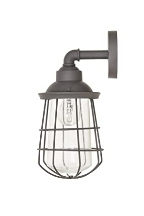 Garden Trading Finsbury Wall Light in Charcoal-Steel: Amazon co uk